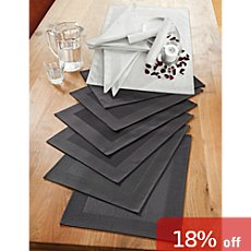 Erwin Müller 12-pc napkins & table mats set