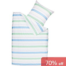 Brennet percale duvet cover set
