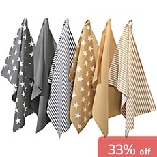 REDBEST  6-pk tea towels