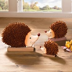 3-pk decoration hedgehogs
