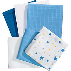Baby Butt  6-pk muslin squares