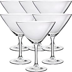 6-pk martini glasses
