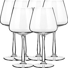 6-pk Burgundy wine glasses