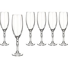 6-pk sparkling wine glasses
