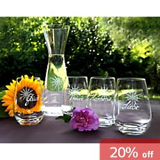 Crystal Stars  4-pk water glasses