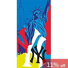 CTI velour beach towel New York