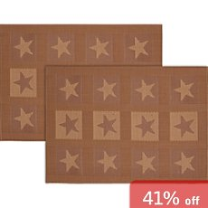Stuco wipe-clean 2-pk table mats