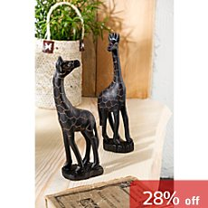 2-pk decorative giraffes