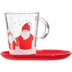 mulled wine glass incl. Saucer