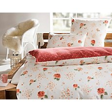 Irisette luxury cotton flannel reversible duvet cover set