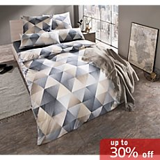 Irisette soft-jersey duvet cover set