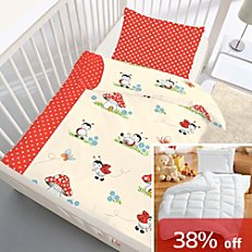 5-pc children bedding set, ladybird