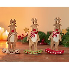 3-pk Christmas decoration figurines