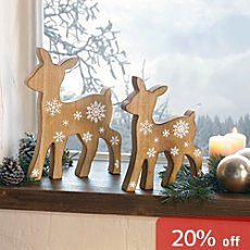 2-pk decoration figurines deer