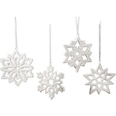 4-pk winter decorations