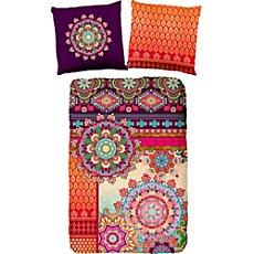 Hip cotton sateen duvet cover set