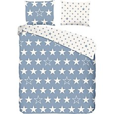 Good Morning cotton flannelette reversible duvet cover set
