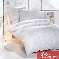 Egyptian cotton brocade damask duvet cover set