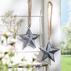 2-pk hanging decoration, star