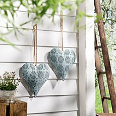 2-pk hanging decoration, heart