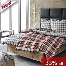S. Oliver cotton flannelette duvet cover set