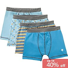 Kinderbutt  4-pk boxer briefs
