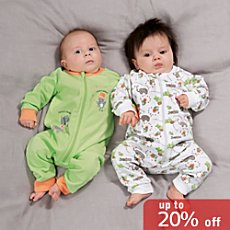 Baby Butt  2-pl sleepsuits