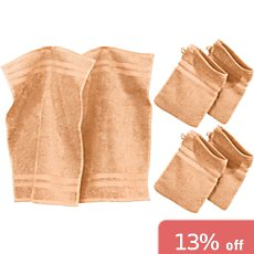 Erwin Müller 6-pc full terry towel set, Tübingen