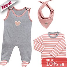 Baby Butt  dungarees set, 3-parts