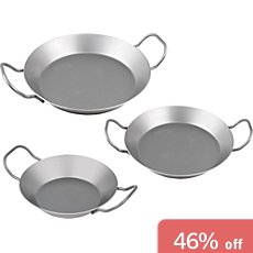 3-pc iron pan set