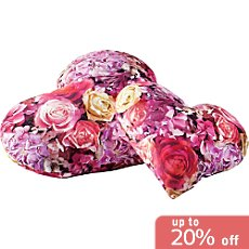 Apelt  heart shaped cushion, filled
