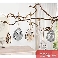 6-pk hanging decoration set