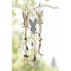 3-pk hanging Easter decoration bunnies