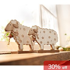 2-pk figurines sheep