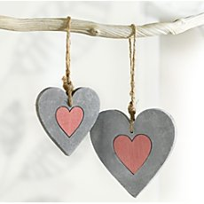 2-pk hanging decoration hearts