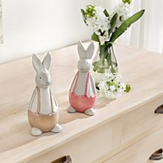 figurines a pair of Easter rabbits