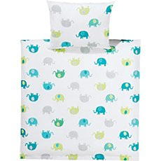 Kinderbutt baby & toddler duvet cover set, elephant