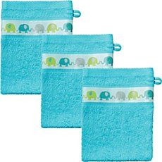 Kinderbutt  pack of 3 wash mitts