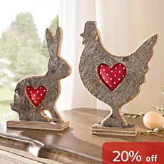 Easter decoration figurine hen