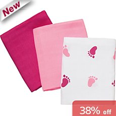 Baby Butt  3-pk muslin squares
