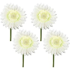 4-pk artificial gerbera flowers