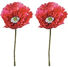 2-pk artificial poppy flowers