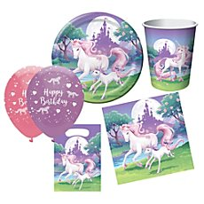 birthday party set unicorn 46-parts