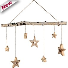 birch twig with stars