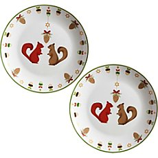 2-pk biscuit plates