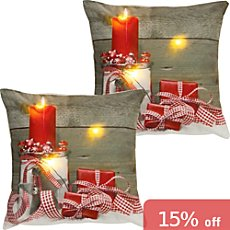 2-pk REDBEST LED cushion covers gift