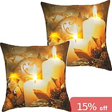 2-pk REDBEST LED cushion covers candles