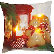 REDBEST LED cushion cover gingerbread man