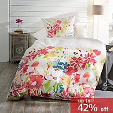 REDBEST Egyptian cotton sateen reversible duvet cover set