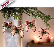 4-pk hanging decoration ribbons